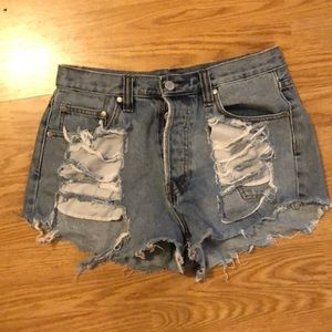 MINKPINK Thrasher Jean Shorts
